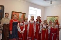 Участие в открытии выставки Виктора Багрова